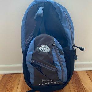 The North Face Pandora Mini Back Pack Blue Gray